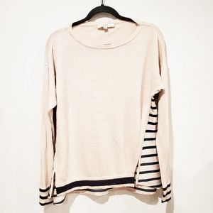 LOFT Striped Back Sweater